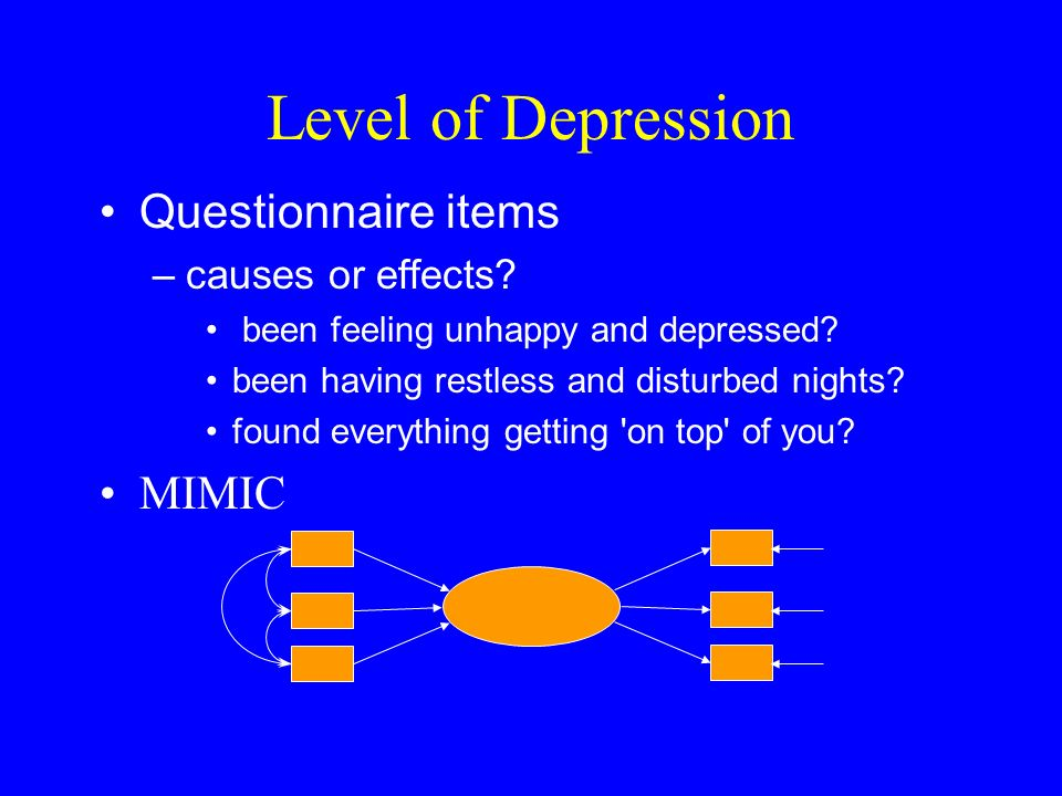 Level of Depression Questionnaire items –causes or effects.