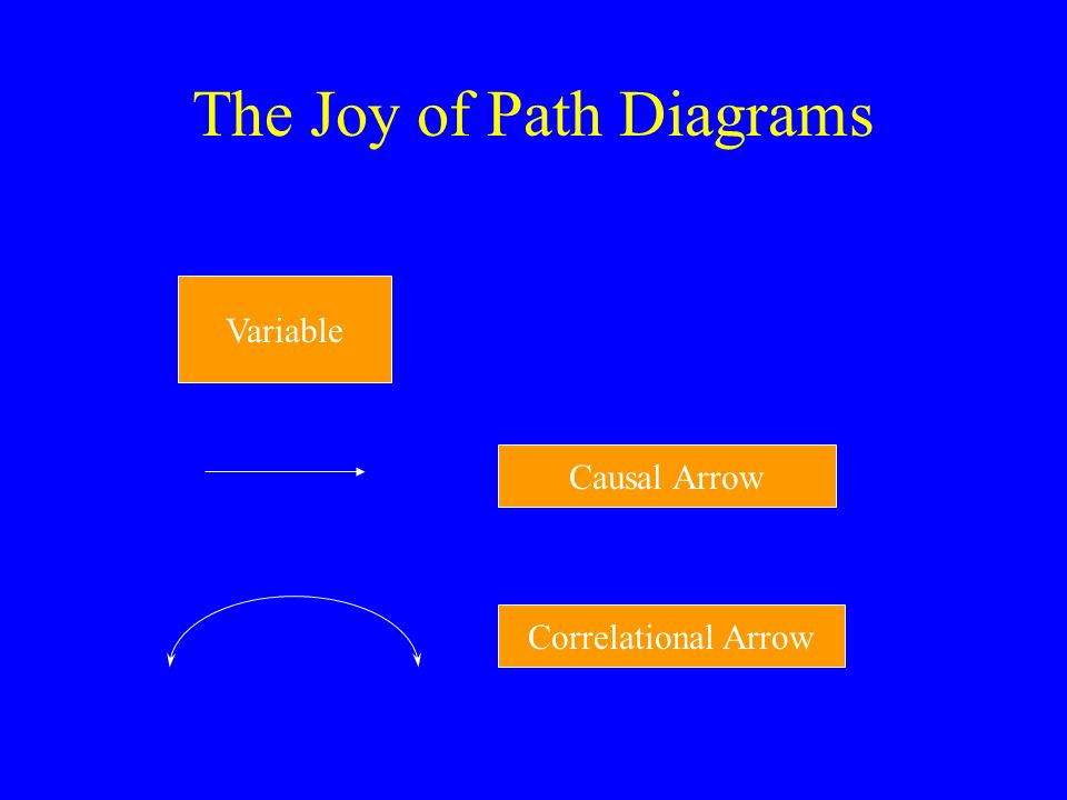 The Joy of Path Diagrams Variable Causal Arrow Correlational Arrow