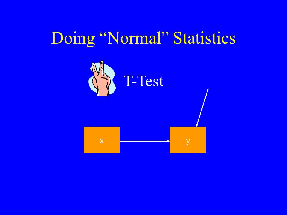 Doing Normal Statistics xy T-Test