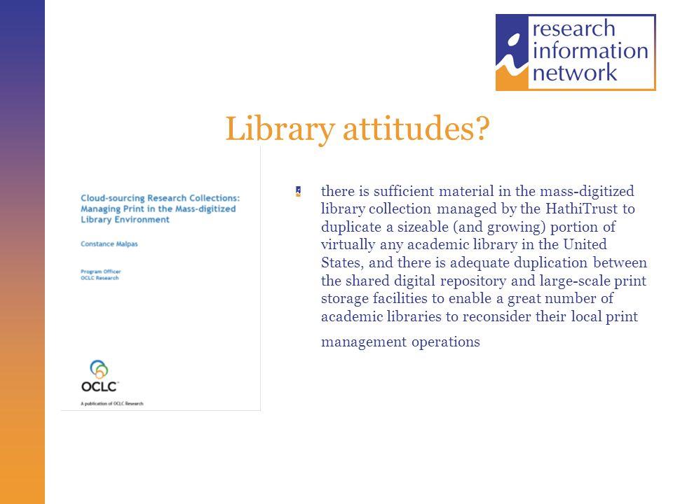 Library attitudes.
