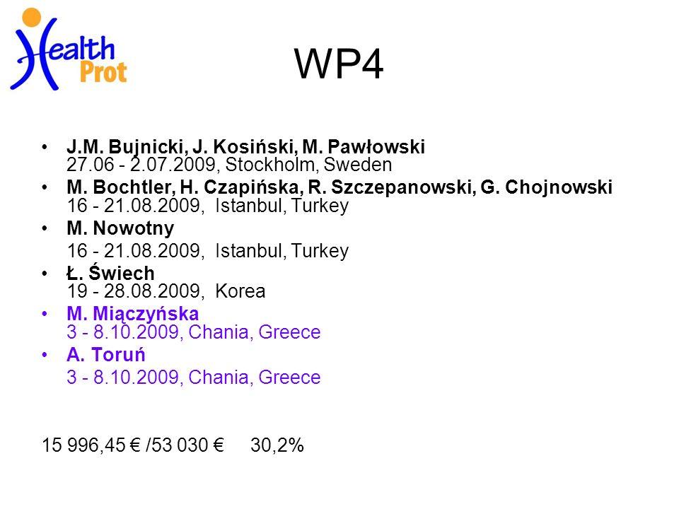 WP4 J.M. Bujnicki, J. Kosiński, M. Pawłowski 27.06 - 2.07.2009, Stockholm, Sweden M.