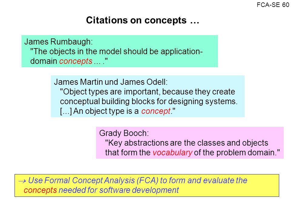 FCA-SE 60 James Rumbaugh: