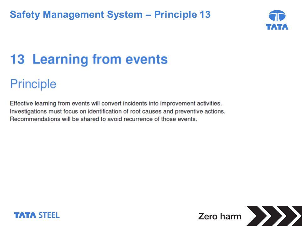 4 Safety Management System – Principle 13