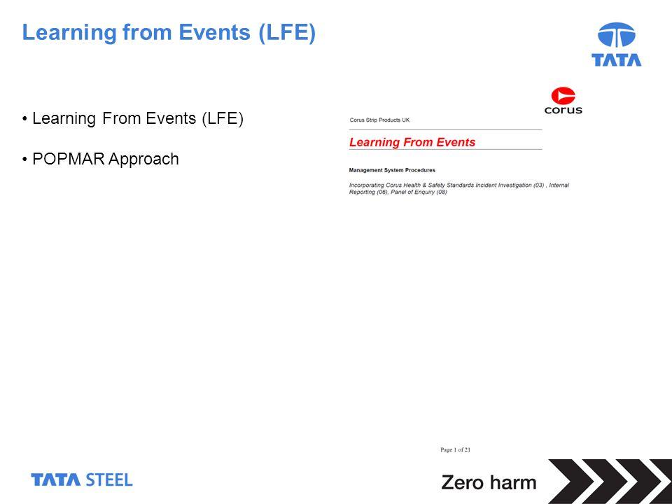6 Learning from Events (LFE) Learning From Events (LFE) POPMAR Approach