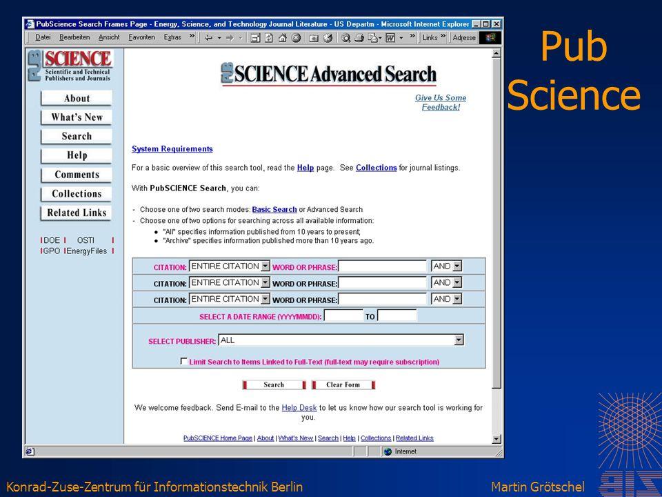 Konrad-Zuse-Zentrum für Informationstechnik BerlinMartin Grötschel Pub Science