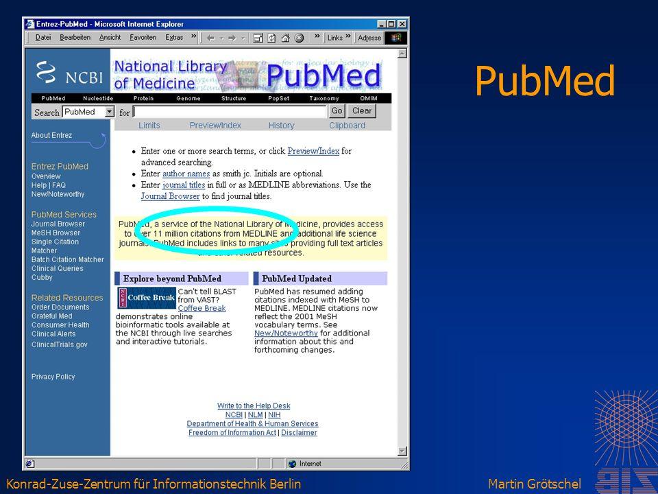 Konrad-Zuse-Zentrum für Informationstechnik BerlinMartin Grötschel PubMed