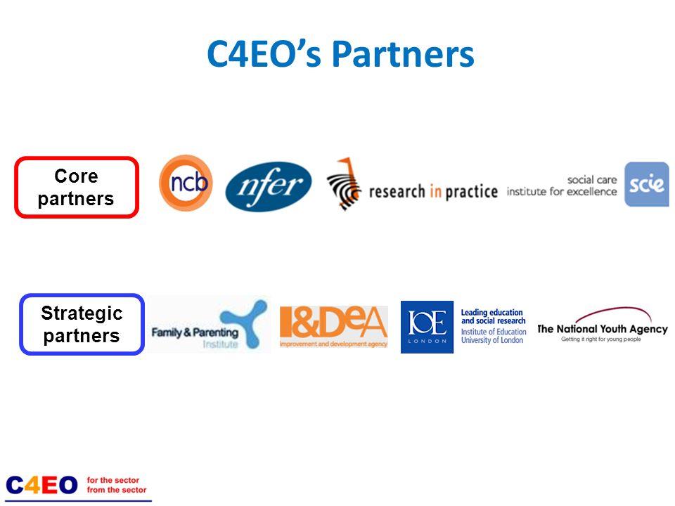 Core partners C4EOs Partners Strategic partners