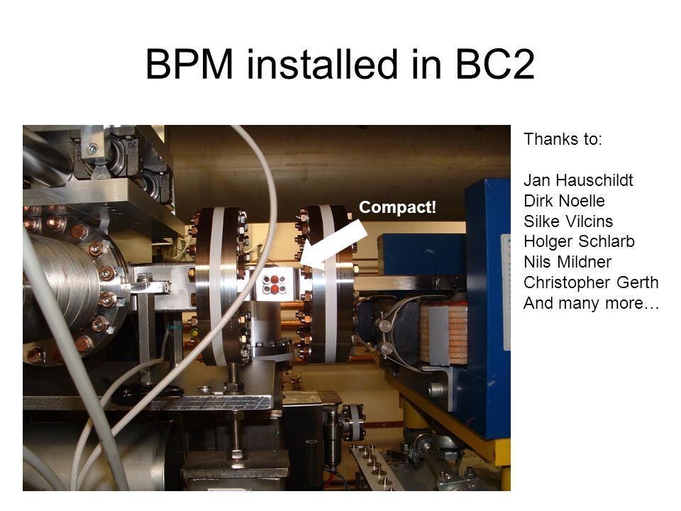 BPM installed in BC2 Compact.