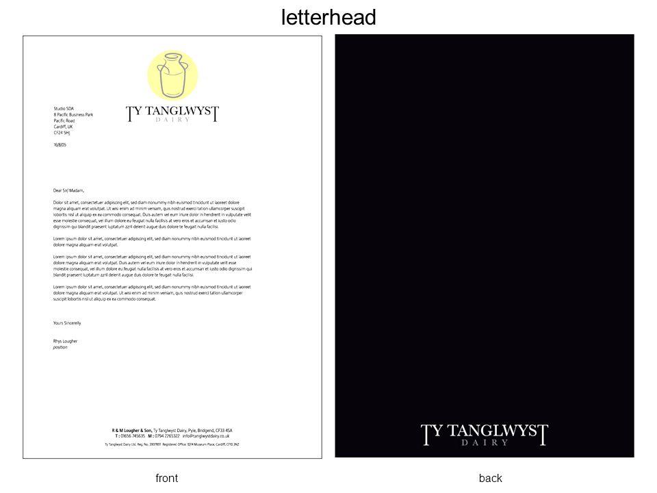 letterhead front back