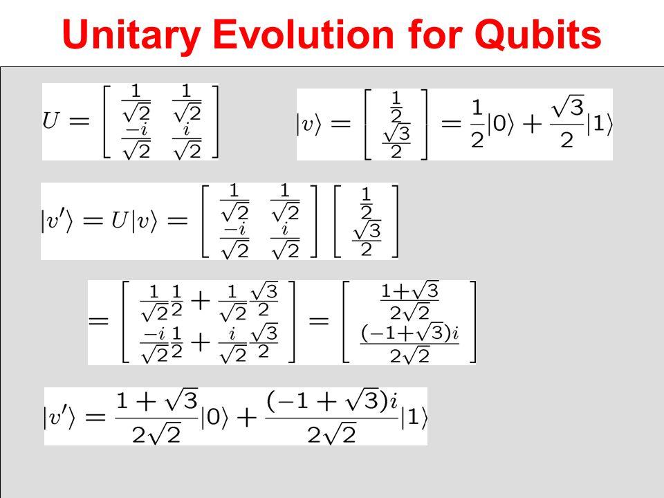 Unitary Evolution for Qubits