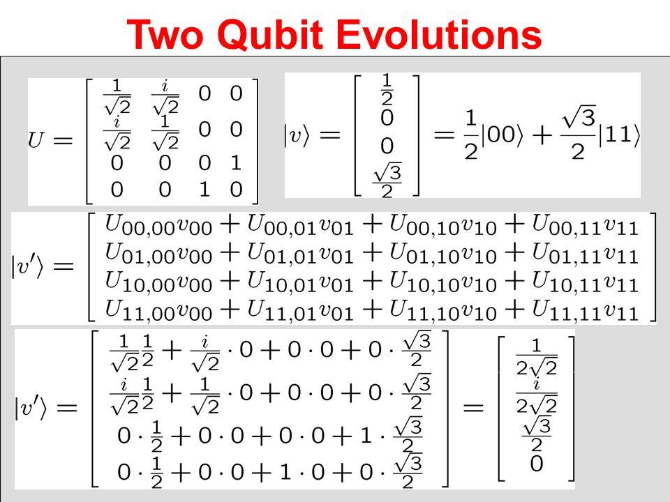 Two Qubit Evolutions