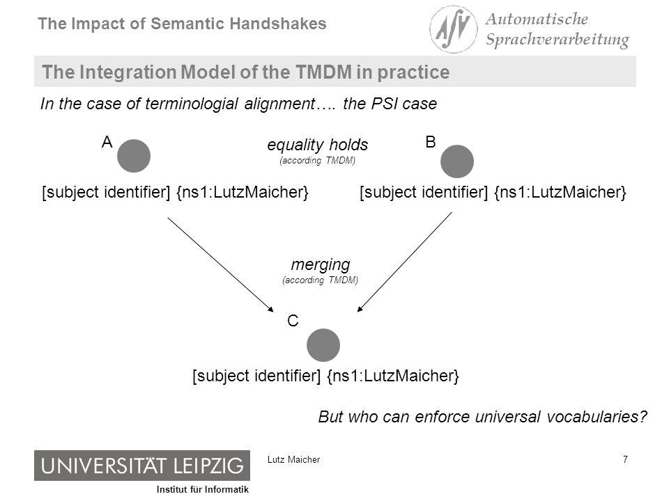 Institut für Informatik The Impact of Semantic Handshakes Automatische Sprachverarbeitung 8Lutz Maicher Semantic Handshakes and Interaction Protocols