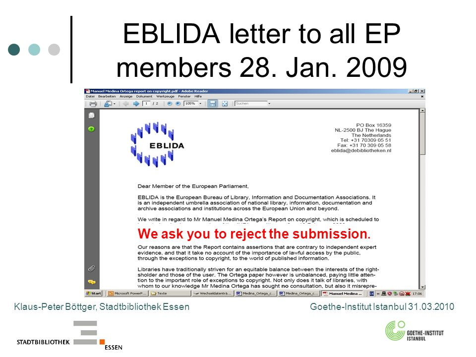 EBLIDA letter to all EP members 28. Jan.