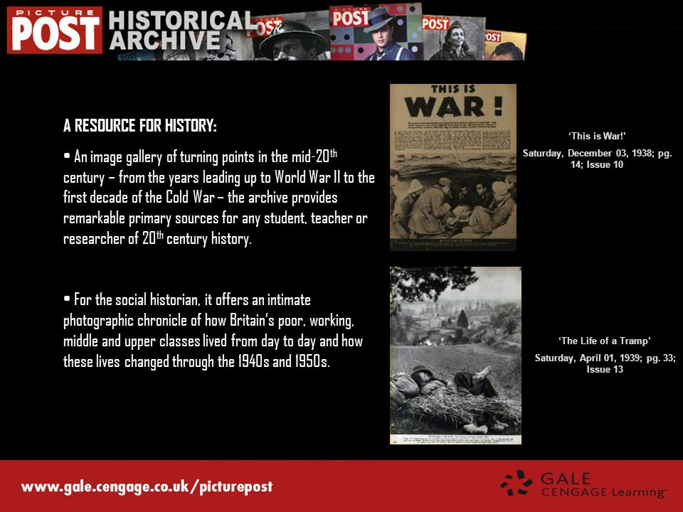 A RESOURCE FOR HISTORY: An image gallery of turning points in the mid-20 th century – from the years leading up to World War II to the first decade of