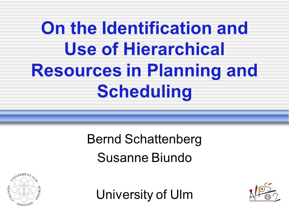 Overview Introduction Hybrid Planning Abstraction of Resources Motivation Modelling Calculations Planning with Hierarchical Resources Conclusions & Future Work