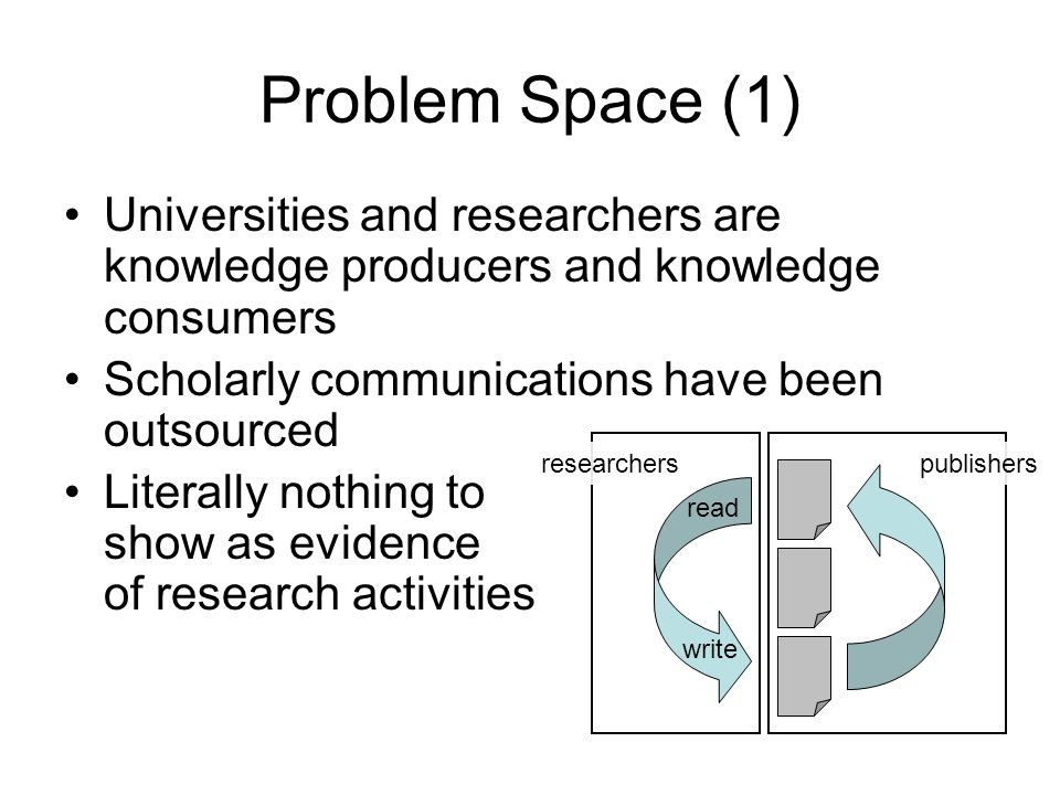 Problem Space (2) Researchers have have hard disks which are just organised enough to support daily activity –Disk crashes –Stolen laptops –Software upgrades that go wrong –Backups that never quite get restored –Draws and folders full of old stuff that eventually fall off the radar Lost in some research assistants computer, the data are often irretrievable or an undecipherable string of digits Lost in a Sea of Science Data.