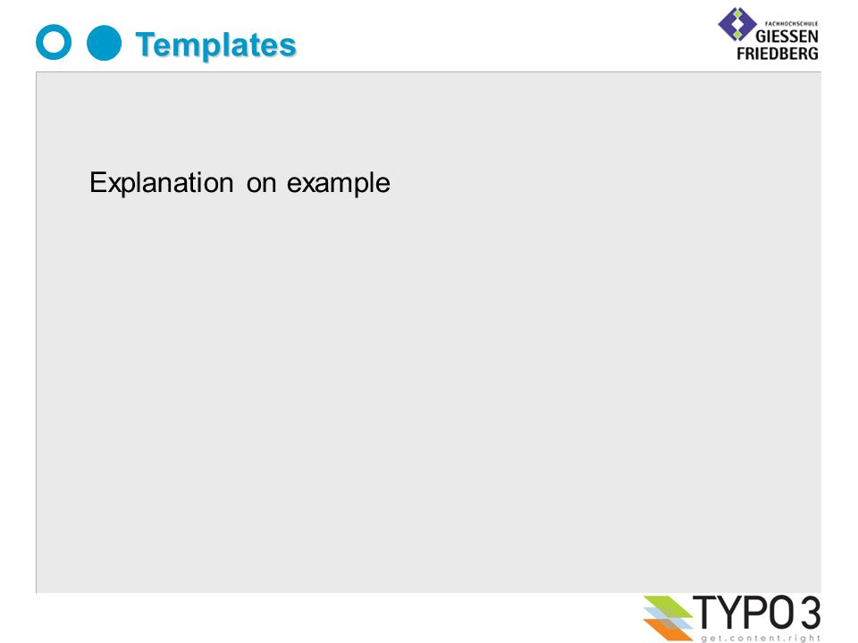 Templates Explanation on example