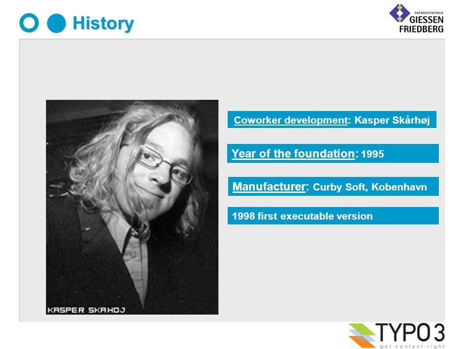 Manufacturer: Curby Soft, Kobenhavn History 1998 first executable version Year of the foundation: 1995 Coworker development: Kasper Skårhøj