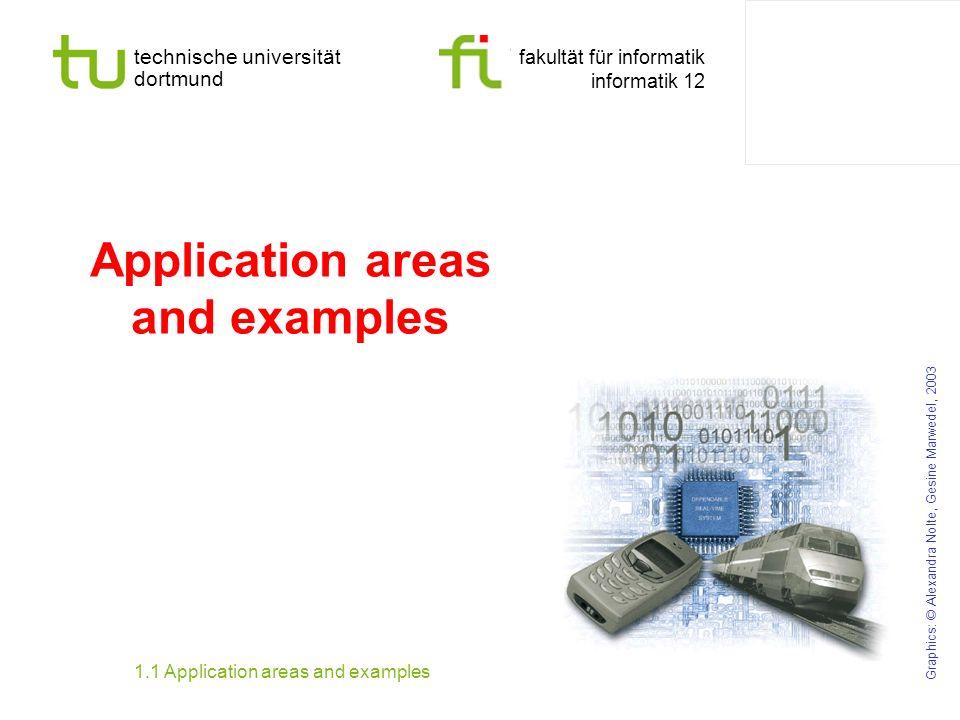 technische universität dortmund fakultät für informatik informatik 12 Application areas and examples Graphics: © Alexandra Nolte, Gesine Marwedel, 200