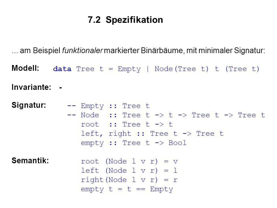 7.2 Spezifikation...