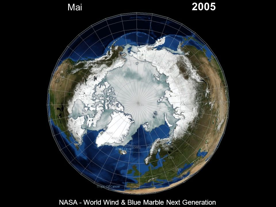 Mai 2005 NASA - World Wind & Blue Marble Next Generation