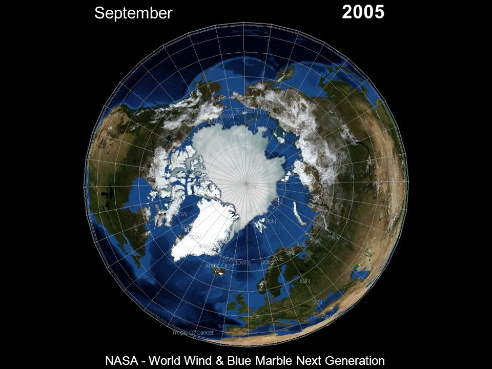 September 2005 NASA - World Wind & Blue Marble Next Generation