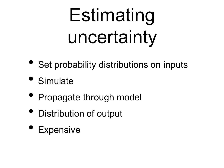 Emulators Statistical model of the climate model Build the emulator from a designed set of model runs Validate Calibrate (model discrepancy) Estimate uncertainty/ sensitivity (Monte Carlo)
