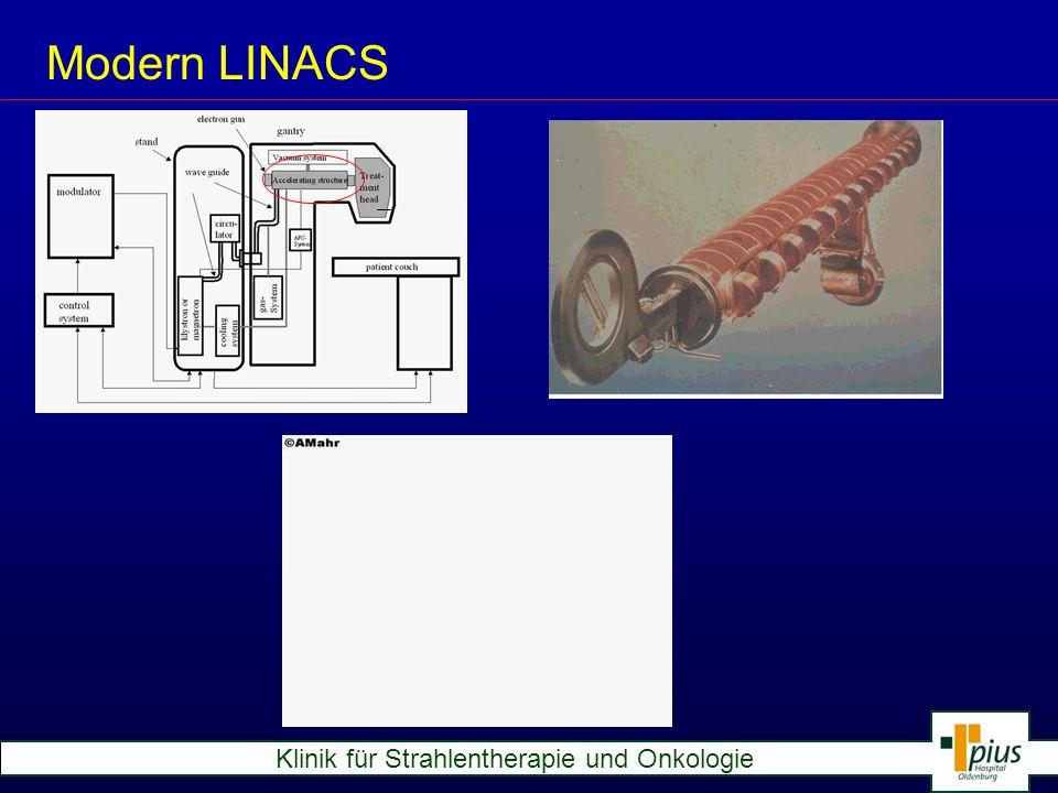 Klinik für Strahlentherapie und Onkologie Modern LINACS Electrons from Accelerator