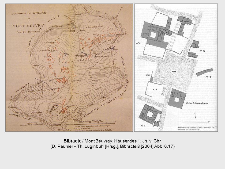 Bibracte / Mont Beuvray: Häuser des 1. Jh. v. Chr. (D. Paunier – Th. Luginbühl [Hrsg.], Bibracte 8 [2004] Abb. 6.17)