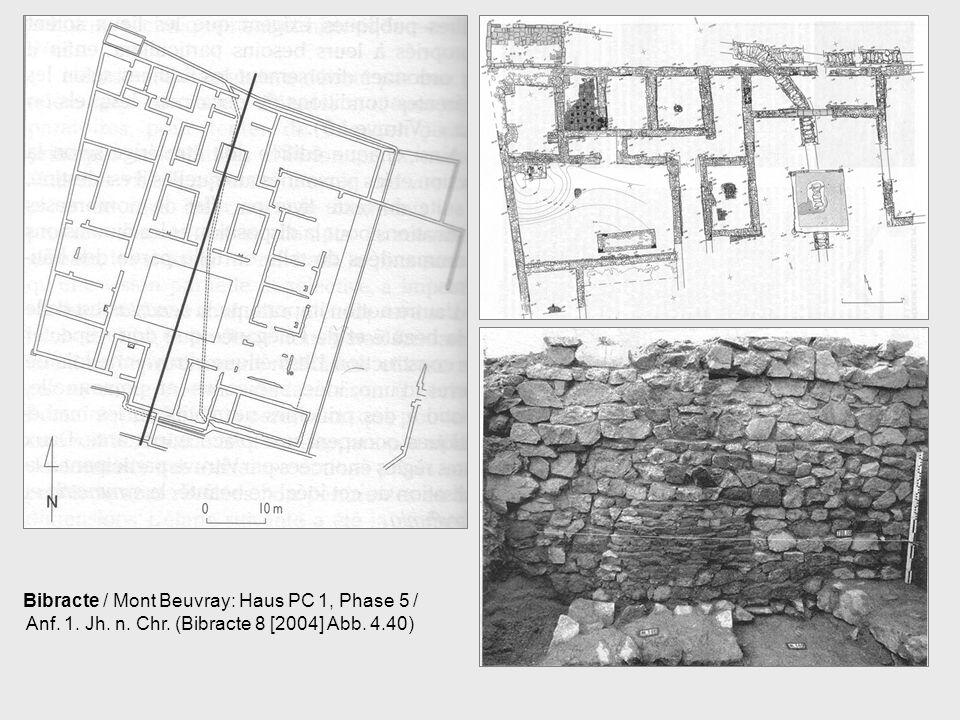 Bibracte / Mont Beuvray: Haus PC 1, Phase 5 / Anf. 1. Jh. n. Chr. (Bibracte 8 [2004] Abb. 4.40)