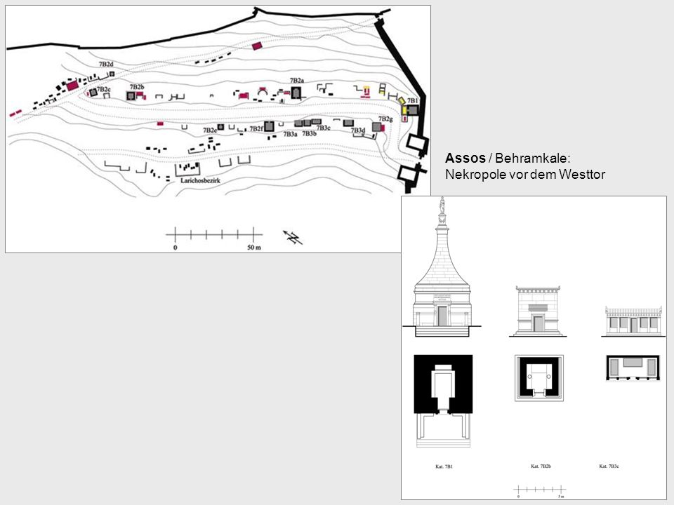 Assos / Behramkale: Nekropole vor dem Westtor