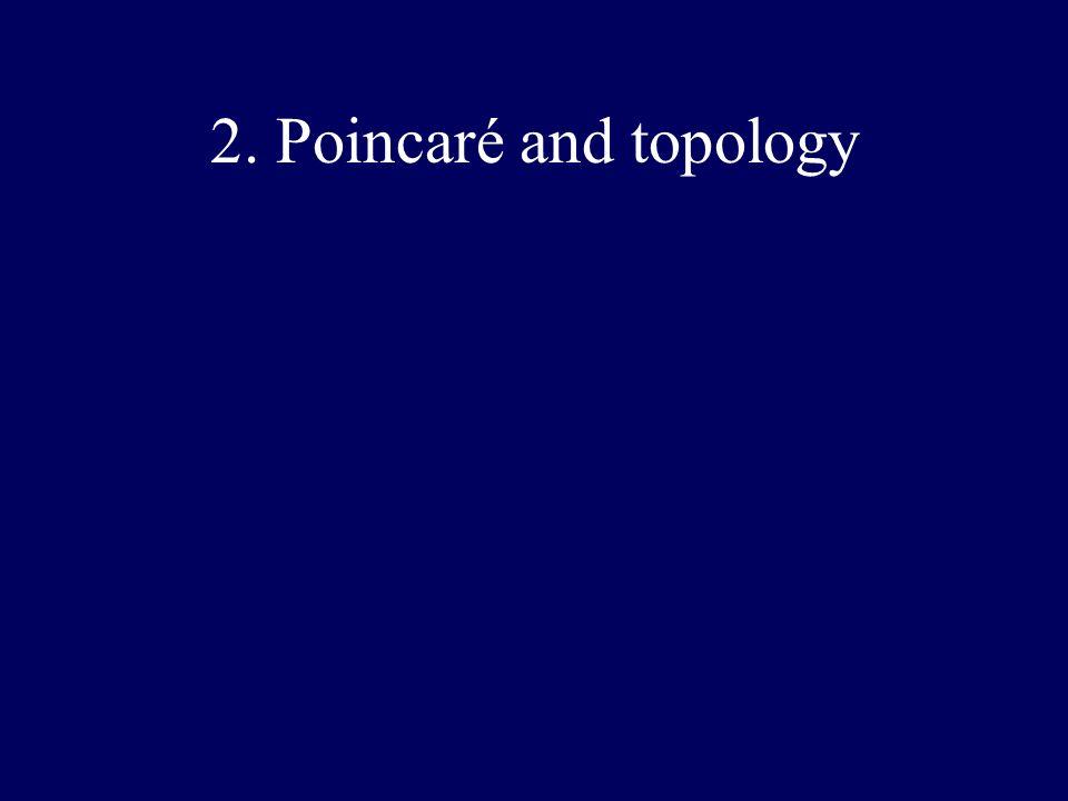 2. Poincaré and topology
