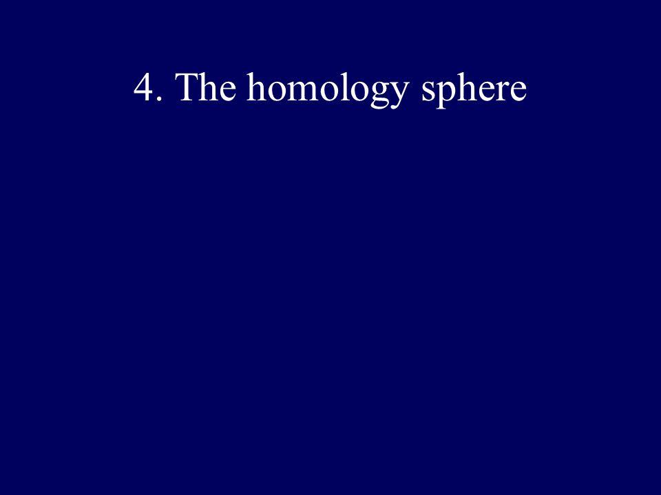 4. The homology sphere