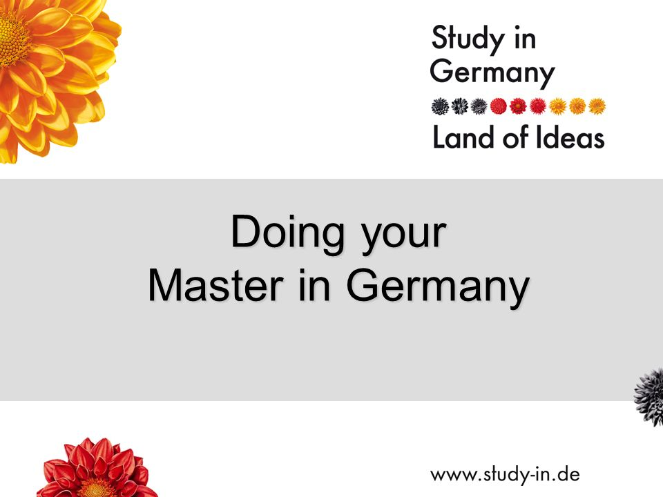 Doing your Master in Germany