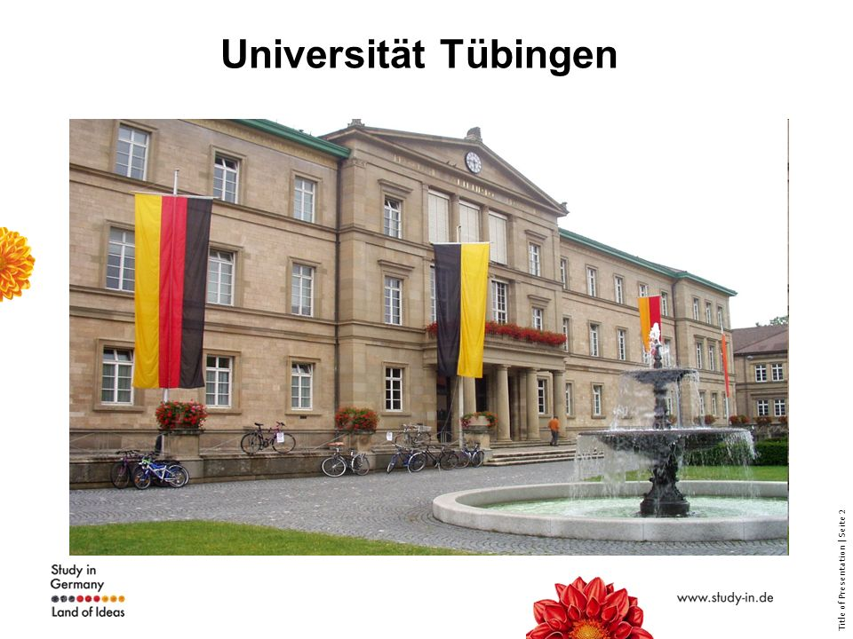 Title of Presentation | Seite 2 Universität Tübingen