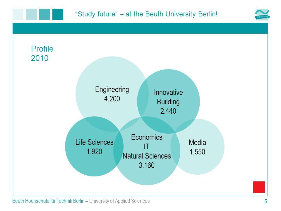 Study future – at the Beuth University Berlin! Beuth Hochschule für Technik Berlin – University of Applied Sciences 5 Profile 2010 Engineering 4.200 L