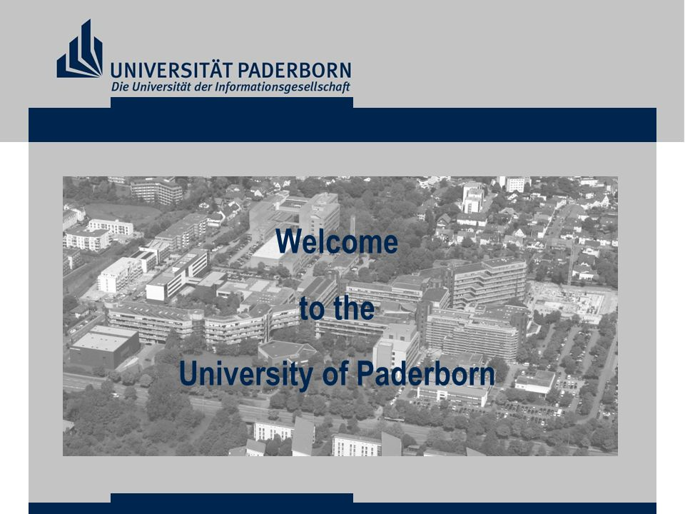 Welcome to the University of Paderborn