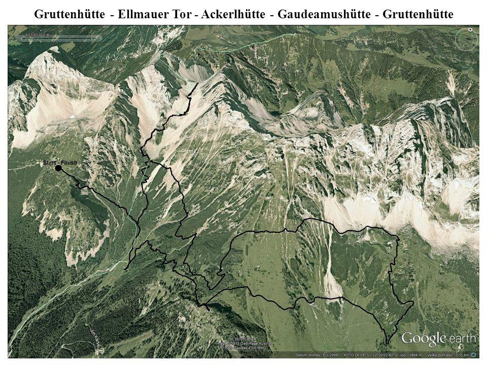 Gruttenhütte - Ellmauer Tor - Ackerlhütte - Gaudeamushütte - Gruttenhütte