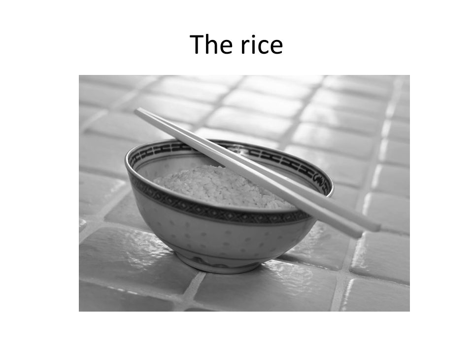 The rice