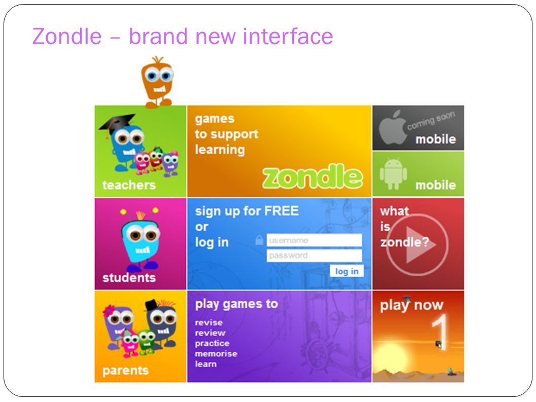 Zondle – brand new interface