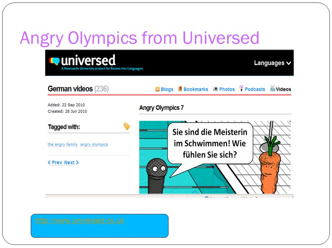 Angry Olympics from Universed