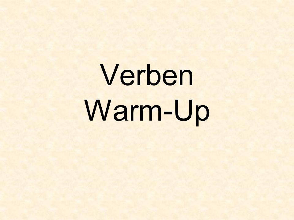 Verben Warm-Up