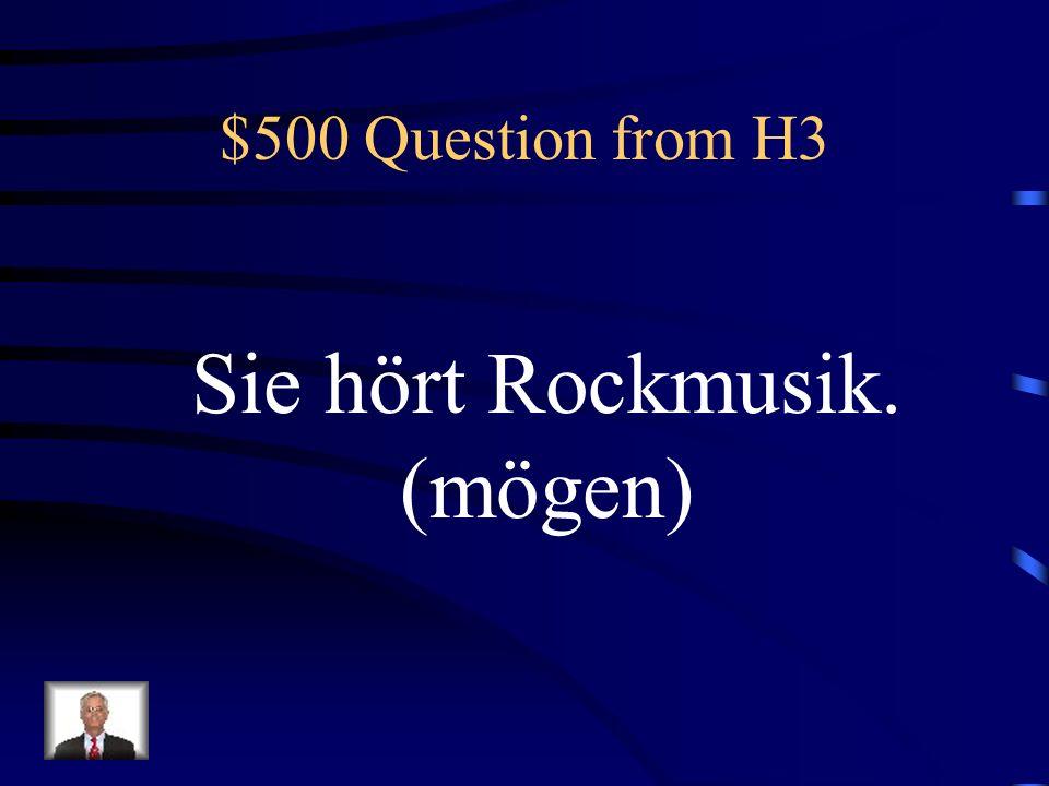 $400 Answer from H3 Was ist Tom kann Gitarre spielen.