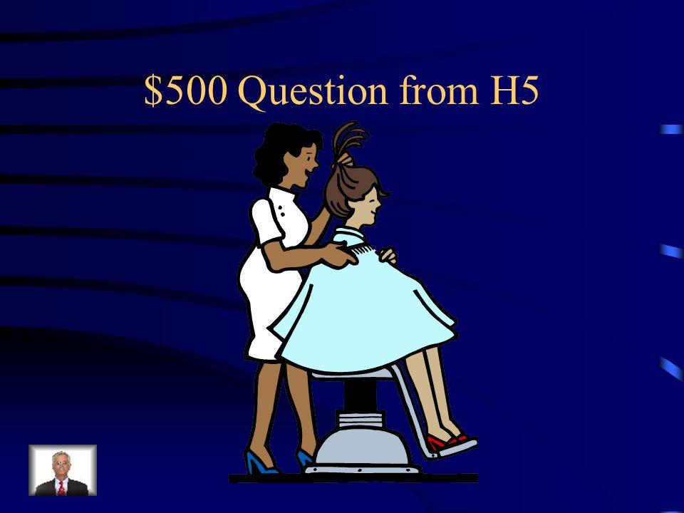 $400 Answer from H5 Was ist Die Raumfährerin?