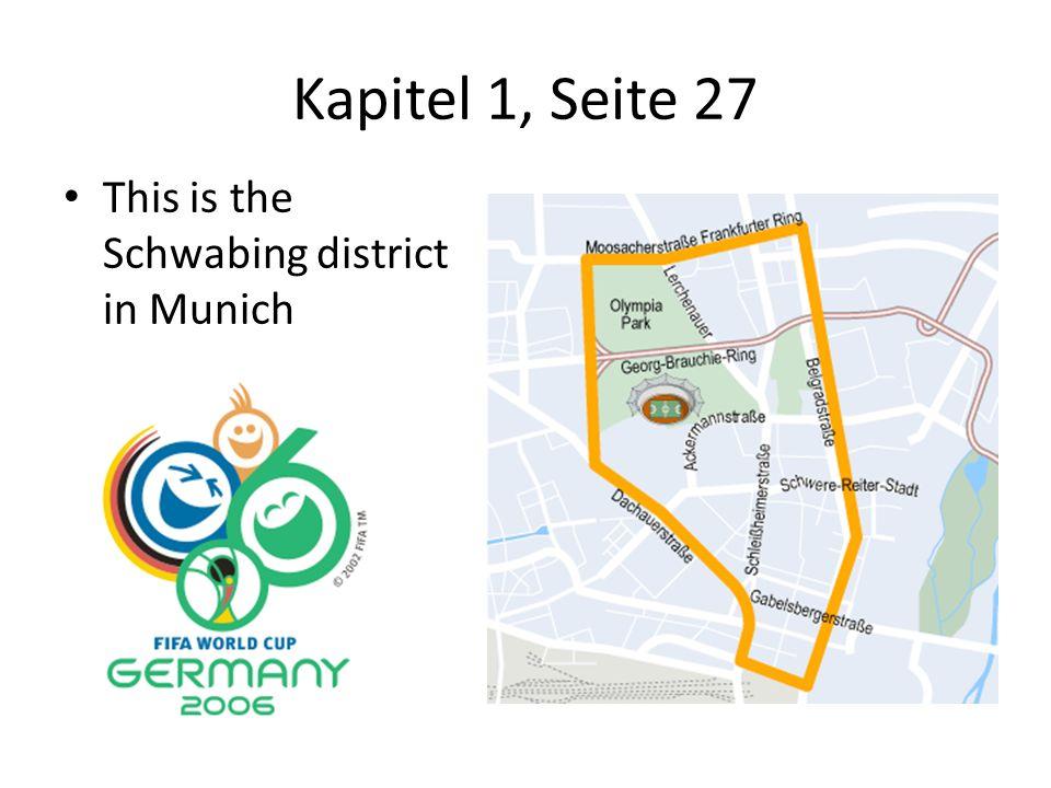 Kapitel 1, Seite 27 This is the Schwabing district in Munich