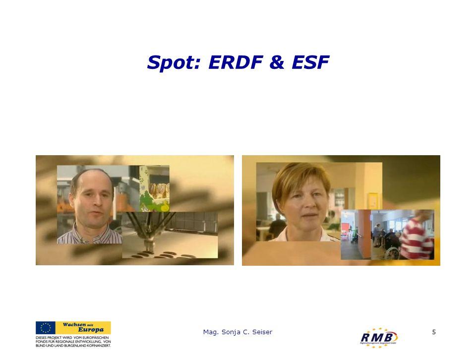 Spot: ERDF & ESF Mag. Sonja C. Seiser5