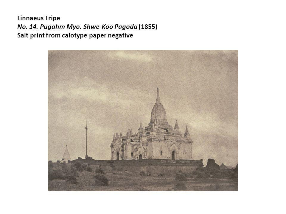 Linnaeus Tripe No. 14. Pugahm Myo. Shwe-Koo Pagoda (1855) Salt print from calotype paper negative