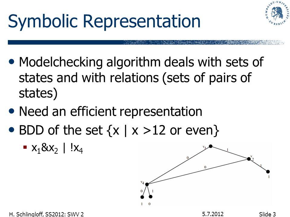 Slide 4 H. Schlingloff, SS2012: SWV 2 Calculation of BDDs 5.7.2012
