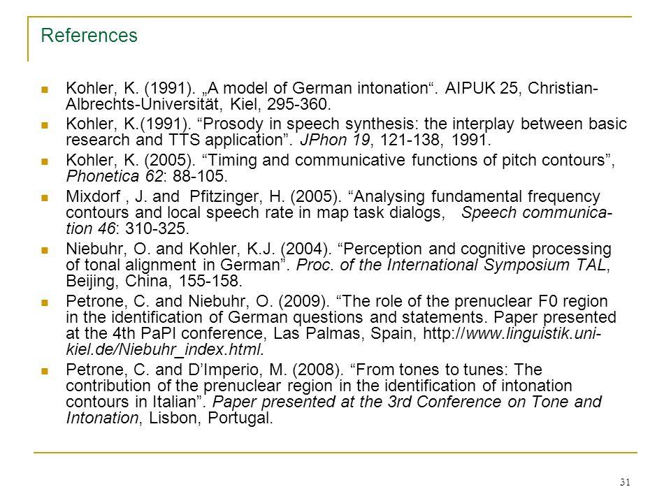 30 References Ambrazaitis, G. (2006).