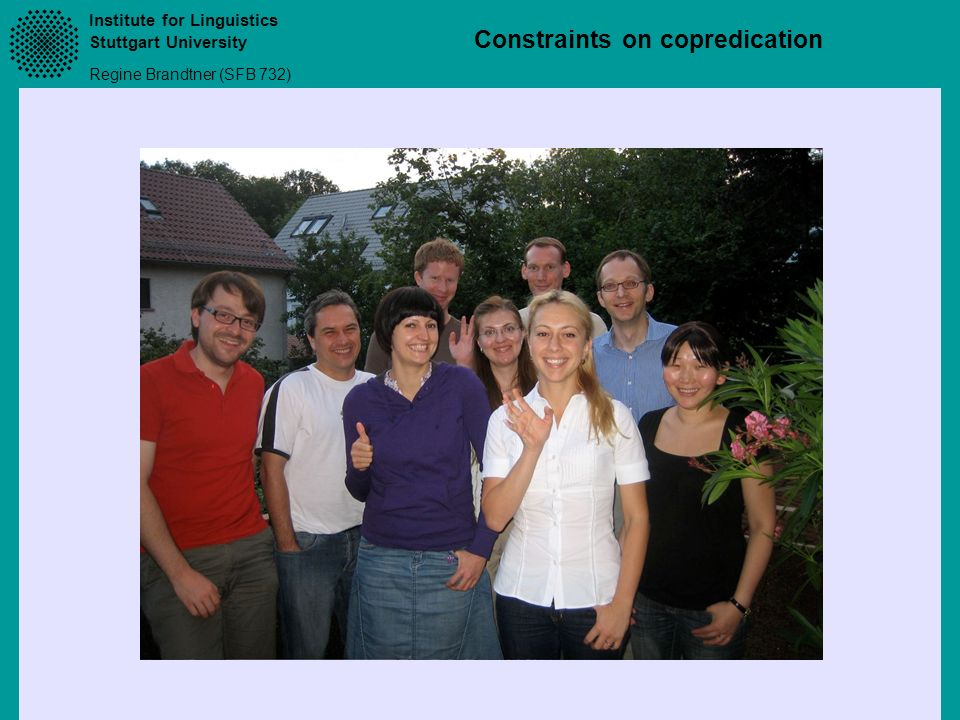 Institute for Linguistics Stuttgart University Regine Brandtner (SFB 732) Constraints on copredication